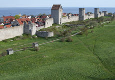 Visby city wall Royalty Free Stock Images