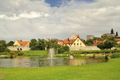 Visby city walls Stock Photography