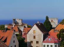 Visby em Gotland na Suécia imagem de stock