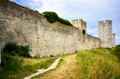 Visby miasta ściana Zdjęcia Royalty Free