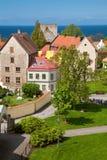 Visby Stadt bei Gotland, Schweden Stockbild