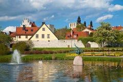 Visby Stadt bei Gotland, Schweden Stockbilder