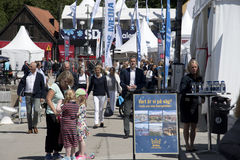 Visby, Sweden. 03th July, 2017. People walking on the crowded st Stock Photo
