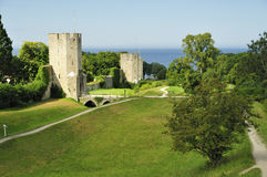 Visby walls Stock Photos