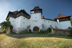 Viscera fortified city, brasov, romania. Transylvania, Romania. Image of fortified church of Maierus, UNESCO heritage site, german landmark in romanian country Stock Photo