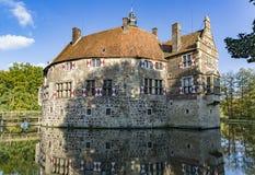 Vischering moated castle in North-Rhine Westphalia. Germany stock images