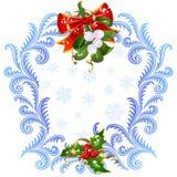 Vischio della cartolina d'auguri anno di nuovo e di natale 6. Fotografia Stock Libera da Diritti