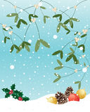 Vischio di Natale Fotografie Stock Libere da Diritti