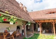 Visciri ha fortificato la chiesa in Romania fotografia stock libera da diritti