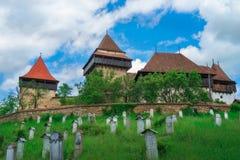 Visciri stärkte kyrkan i Rumänien royaltyfri bild