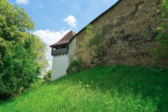 Visciri-Wehrkirche in Rumänien lizenzfreies stockbild