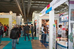 Viscom Milano. MILAN, ITALY - October 16, 2015: Viscom Italy: international conference and exhibition of visual communication fair in Milan Stock Photos