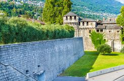 Visconteo castle in Locarno, Switzerland. Visconteo Castle of the city center of Locarno of Ticino canton, Switzerland Royalty Free Stock Image