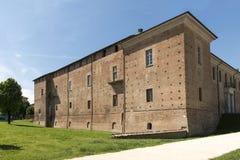 Visconteo slott, östlig sida, Voghera, Italien Royaltyfri Foto