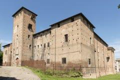 Visconteo slottsikt, Voghera, Italien Royaltyfri Foto