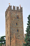 Visconti Castle. Castell'Arquato. Emilia-Romagna. Italy. Royalty Free Stock Photo