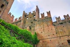 Visconti kasztel. castell'Arquato. emilia. Włochy. fotografia stock
