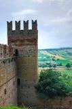 Visconti kasztel. castell'Arquato. emilia. Włochy. Zdjęcia Royalty Free