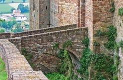 Visconti kasztel. castell'Arquato. emilia. Włochy. Obraz Stock