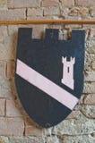 Visconti kasztel. castell'Arquato. emilia. Włochy. Obrazy Royalty Free