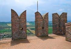 Visconti kasztel. castell'Arquato. emilia. Włochy. Obraz Royalty Free