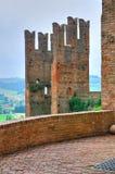 Visconti kasztel. castell'Arquato. emilia. Włochy. Zdjęcia Stock