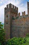 Visconti kasztel. castellArquato. emilia. Włochy. zdjęcia stock