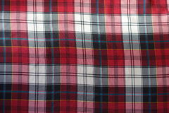 Viscose fabric with plaid pattern in red, black and white Stock Photography