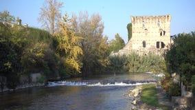 Viscount Bridge of Borghetto Valeggio on Mincio Vr Italy stock video