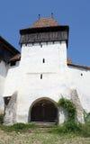 Viscri筑了堡垒于教会, Transylvania,罗马尼亚 免版税库存图片