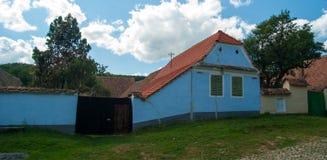 Viscri-Dorf und Wehrkirche von Viscri, Siebenbürgen, ROM Stockbild