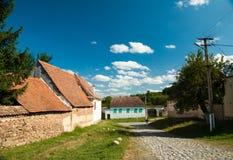 Viscri-Dorf und Wehrkirche von Viscri, Siebenbürgen, ROM Stockfoto
