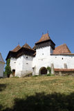 Viscri a enrichi l'église, Transylvanie, Roumanie image libre de droits