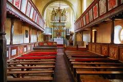 Viscri fortificó la iglesia imagenes de archivo