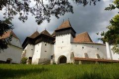 Viscri fortificó la iglesia fotografía de archivo
