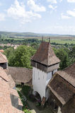 Viscri fortificó la iglesia imágenes de archivo libres de regalías