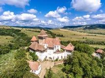 Viscri fortificó la iglesia en Transilvania Rumania imagen de archivo libre de regalías