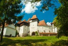 Viscri fortificó la iglesia, Transilvania, Rumania imagenes de archivo