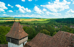 Viscri fortificó la iglesia, Transilvania, Rumania imagen de archivo libre de regalías