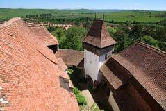Viscri fortificou a igreja, a Transilvânia, Romania imagens de stock royalty free