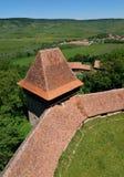 Viscri fortificou a igreja, a Transilvânia, Romania foto de stock royalty free
