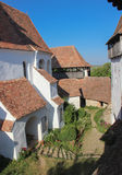 The Viscri Fortified Church - Interior Courtyard Stock Photography