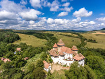 Viscri fortified Church in the middle of Transylvania, Romania. Royalty Free Stock Photos