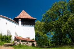 Viscri, fortified church in Romania Royalty Free Stock Images