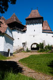 Viscri, fortified church in Romania Royalty Free Stock Photos