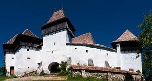 Viscri, fortified church in Romania Stock Image