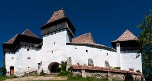 Viscri, fortified church in Romania stock image