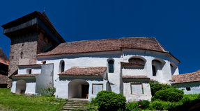 Viscri, fortified church in Romania Royalty Free Stock Photo