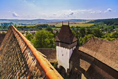 Viscri fortified monastery royalty free stock images