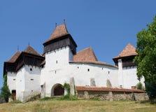 Viscri ha fortificato la chiesa, Transylvania, Romania Fotografia Stock